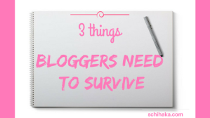 Three things bloggers need to survive.